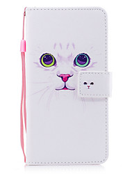For iPhone X iPhone 8 Case Cover Card Holder Wallet with Stand Flip Pattern Magnetic Full Body Case Cat Hard PU Leather for Apple iPhone