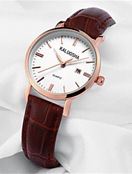 Women's Fashion Watch Japanese Quartz Calendar Water Resistant / Water Proof Leather Band Sparkle Black Red Brown