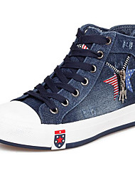 Women's Sneakers Comfort Canvas Spring Casual Light Blue Navy Blue Flat