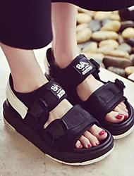 Women's Sandals Comfort Fabric Spring Casual Comfort Black White Flat