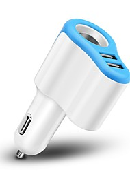 5V 3.1A Dual USB Car Charger with Cigarette Lighter Power Socket Adapter Fast Charger for Smart Phone iPad Tablets Charging