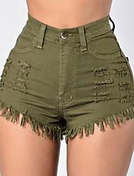 Femme Street Chic Taille Normale Micro-élastique Jeans Pantalon,Ample