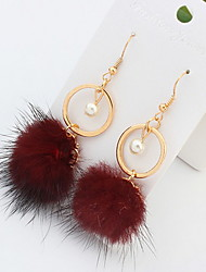 Drop Earrings Circle Ball Long Big Earrings For Women Fine Jewelry Gift