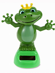 Creative Solar Automatic Swinging Frog Decoration For Office Desktop 1PC