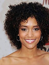 Mujer Pelucas sintéticas Sin Tapa Corto Rizado rizado Afro Negro Peluca afroamericana Para mujeres de color Peluca natural Las pelucas