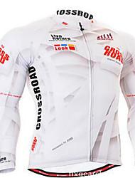 Vélo Vêtements de Compression/Sous maillot Cyclisme Spandex Rayé Automne Cyclisme/Vélo Blanc