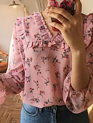 Damen Solide Tierfell-Druck Sexy Normal T-shirt,Rundhalsausschnitt 3/4 Ärmel Baumwolle