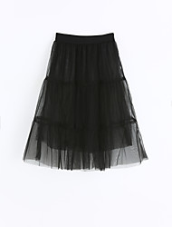 Girls Solid Skirt-Cotton Summer