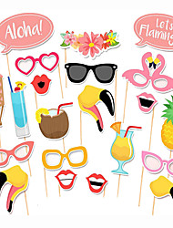 21pcs Summer Vacation Photo Booth Props Photobooth Party Decoration