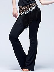 Baile Latino Pantalones y Faldas Mujer Actuación Seda Sintética Cordones 1 Pieza Cintura Media Pantalones