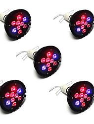 27W E26/E27 Lampes Horticoles LED PAR38 9 LED Haute Puissance 1450 lm Rouge Bleu V 5 pièces