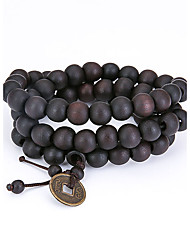 Men's Strand Bracelet Jewelry Natural Fashion Wood Irregular Jewelry For Special Occasion Gift