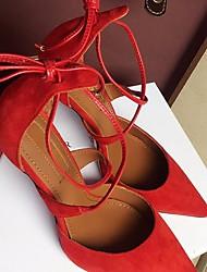 Damen High Heels Komfort Pumps Echtes Leder Sommer Normal Komfort Pumps Schwarz Rot Mandelfarben 5 - 7 cm
