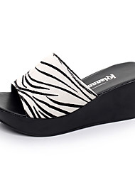 Women's Sandals Casual Leather Summer Daily Wedge Heel Green Ruby Black White 2in-2 3/4in