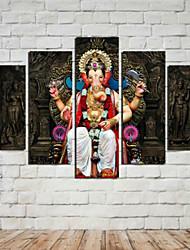 Estampados de Arte Retratos Abstratos Tradicional,5 Painéis Horizontal Estampado Decoração de Parede For Decoração para casa