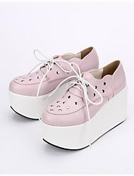 Lolita Shoes Gothic Lolita Punk Lolita Lace-up Lolita Platform Lolita 10 CM Pink For PU Leather/Polyurethane Leather PU Leather