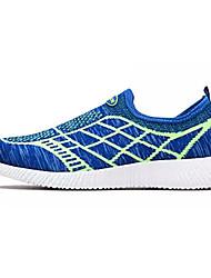 Men's Athletic Shoes Running Comfort Tulle Spring Fall Outdoor Flat Heel Black Dark Blue Royal Blue Under 1in