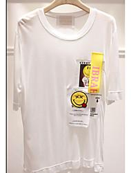 Damen Einfach T-shirt,Rundhalsausschnitt Sommer Kurzarm Dünn