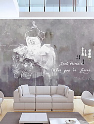 Tile Pattern Wallpaper For Home Modern Wall Covering , Non-woven fabric Material Adhesive required Mural , Room Wallcovering