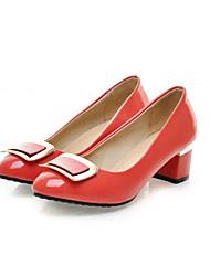 Women's Heels Basic Pump Patent Leather Summer Party & Evening Dress Basic Pump Rhinestone Low Heel Green Ruby Black 1in-1 3/4in
