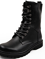 Men's Boots Snow Boots Fashion Boots Motorcycle Boots Combat Boots Real Leather Cowhide Nappa Leather Fall WinterCasual Outdoor Office &