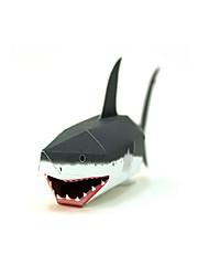 Quebra-cabeças Kit Faça Você Mesmo Quebra-Cabeças 3D Blocos de construção Brinquedos Faça Você Mesmo Tubarão