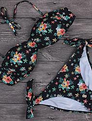 Femme Licou Bikinis Fleur Fleurs