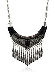 Femme Collier court /Ras-du-cou Pendentif de collier Colliers Déclaration Alliage de métal Résine Strass Alliage Gland Mode Bohême