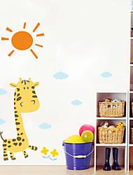 Животные Цветочные мотивы/ботанический Мультипликация Наклейки Простые наклейки Декоративные наклейки на стены материал Украшение дома
