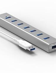 Blueendless h702u3 usb3.0 5.0 gbps 7 ports Hub de câble 0.6m avec adaptateur secteur