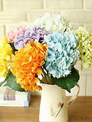 5 Филиал Полиэстер Недвижимость сенсорный Другое Гортензии Букеты на стол Искусственные Цветы