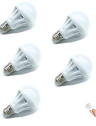 5W Ampoules LED Intelligentes A70 18 SMD 2835 400 lm Blanc Chaud Blanc Froid A détecteur Audio-activé Décorative Contrôle de la lumière V