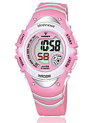 Kid's Sport Watch Fashion Watch Digital Water Resistant / Water Proof Noctilucent Rubber Band Blue Pink