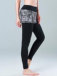 Pantalones de yoga Medias/Mallas Largas Gimnasio, Correr & Yoga Secado rápido Transpirabilidad Cómodo Cintura Media EsláticoRopa