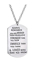 Women's Pendant Necklaces Jewelry Alloy Basic Euramerican Fashion Inspirational Jewelry For Birthday Thank You Daily Casual