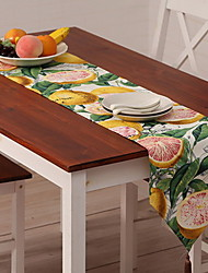 Japanese Garden Oranges Printing Cotton And Linen Table Flag 30*180cm