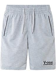 Hombre Shorts de running Secado rápido Casual/Diario Shorts/Malla corta para Jogging Ejercicio y Fitness Poliéster Corte Ancho Blanco