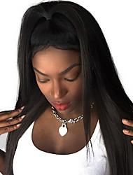 180% de densité 360 perruque frontale en dentelle pré-emmêlée en malaisie soyeuse droite humaine remy cheveux naturel noir 10-24 pouces en