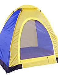 2 Personen Zelt Einzeln Falt-Zelt Einzimmer Camping Zelt 1000-1500 mm Silber Band Belüftung Schnelles Trocknung kratzfest-Camping &