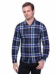 Men's New Fashion Classic Plaid Slim Fit Long Sleeve Casual Cotton Shirt/ Cotton /Plus Size /Office