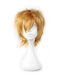 Synthetic Short Blonde Party Cosplay Wig Man Layered Curly  Hair Wigs
