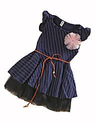 Robe Fille de Points Polka Coton Eté Sans Manches