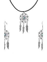 Women's Hoop Earrings Pendant Necklaces Dangling Style Pendant Fashion Bohemian Personalized Euramerican Costume Jewelry Chrome Dream