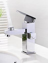 Montage Soupape céramique Mitigeur un trou for  Chrome , Robinet lavabo