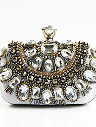 L.WEST Women fashion handmade acrylic bead diamond dinner packages Bag