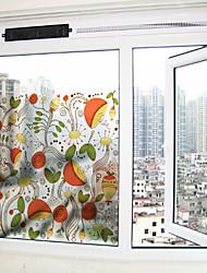 Цветы Стикер на окна,ПВХ/винил материал окно Украшение