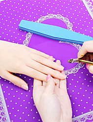 Beauty Care Pro Nail Art Equipment Advanced Silicone Table Mat Pad Cute Point Lace Silicone Foldable Washable Salon Manicure