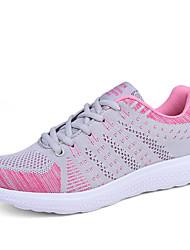 Femme Chaussures d'Athlétisme Confort Semelles Légères Polyuréthane Printemps Automne Athlétique Marche Confort Semelles Légères Lacet