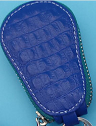 Unisex Key Holder PU All Seasons Casual Outdoor Round Zipper Fuchsia Orange Blue