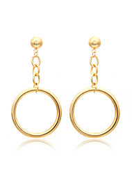 Women's Drop Earrings Hoop Earrings Basic Circular Unique Design Copper Iron Circle Jewelry ForWedding Party Special Occasion Halloween